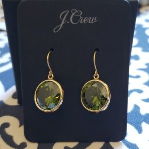 NWT JCrew Light Green & Gold Earrings